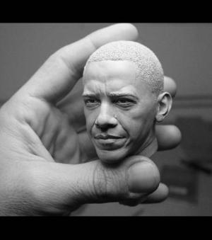 Barack Obama par le sculpteur am�ricain Adam Beane
